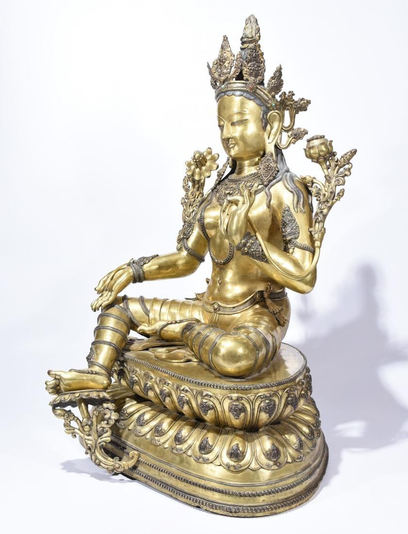 A Gilt-Bronze Figure Of Syamatara - 5