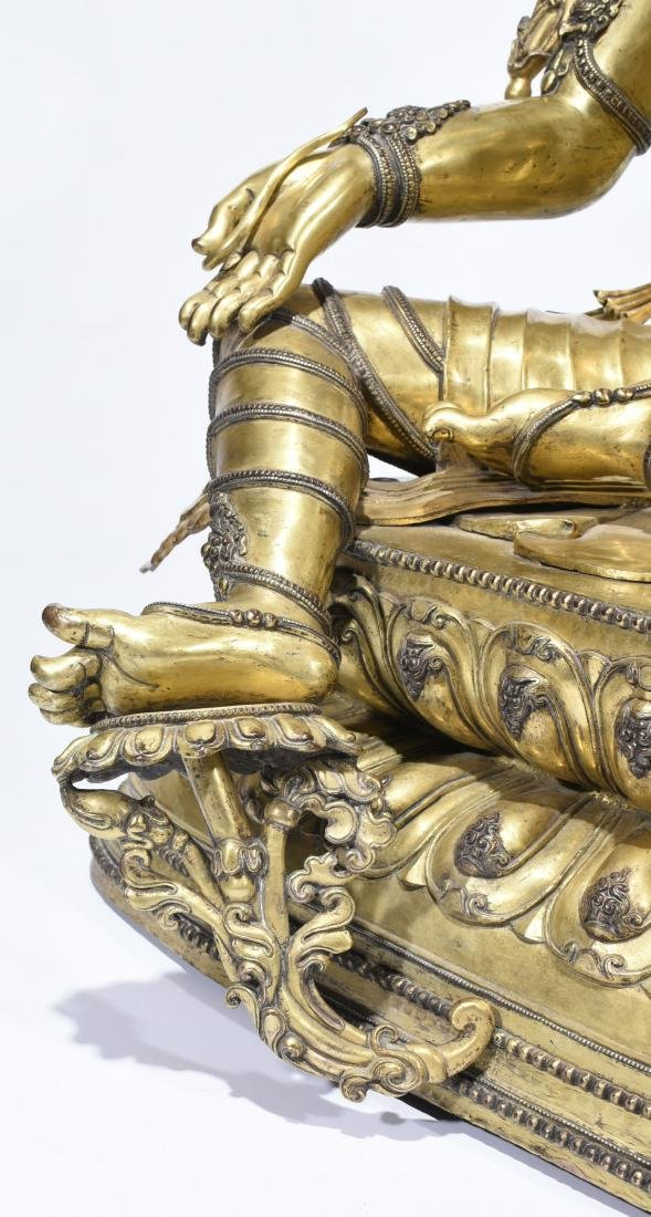 A Gilt-Bronze Figure Of Syamatara - 6