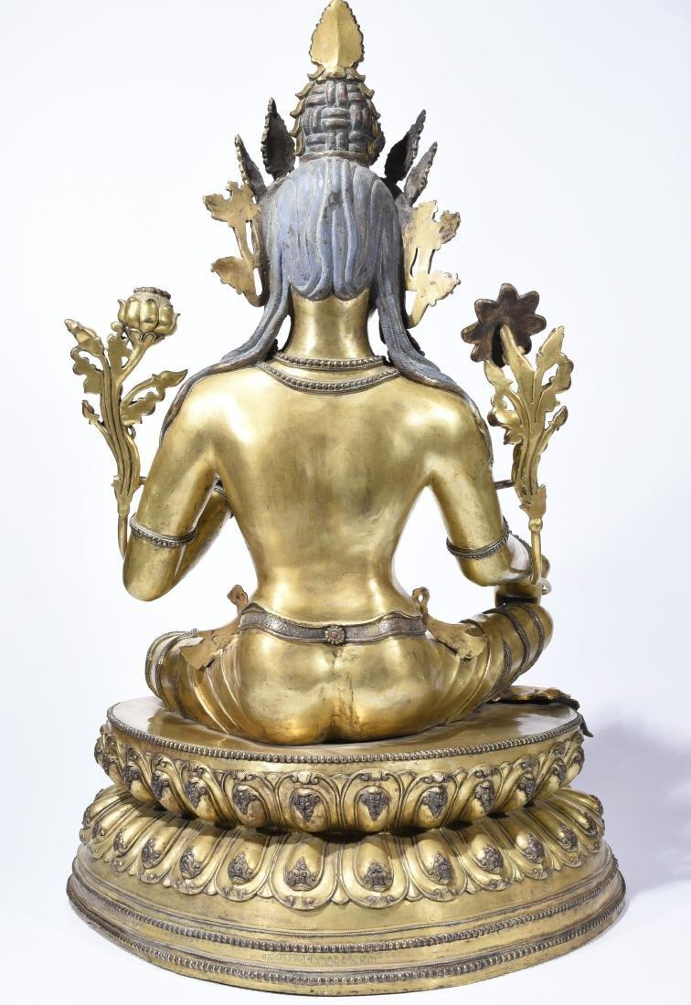 A Gilt-Bronze Figure Of Syamatara - 7