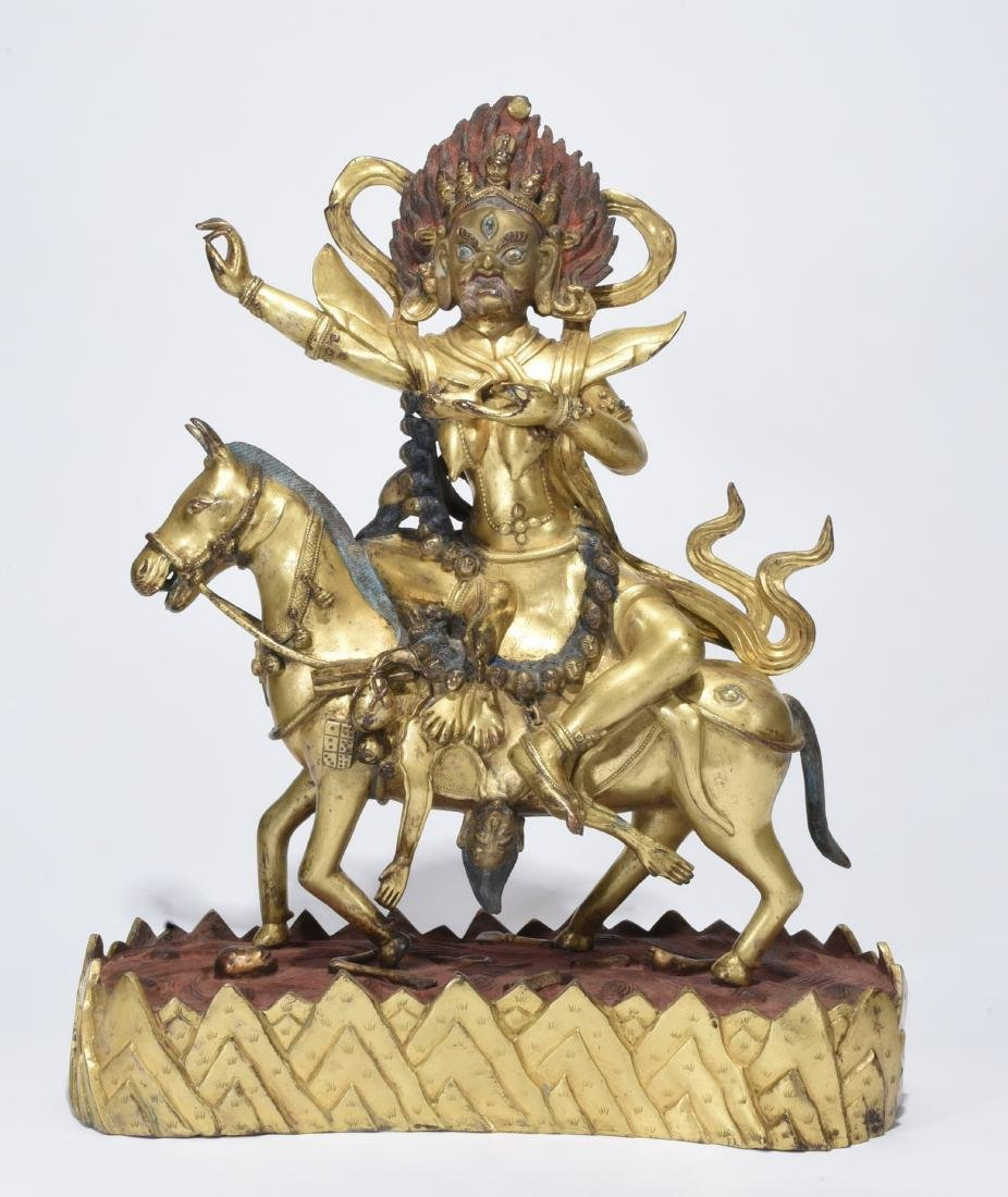 A Gilt-Bronze Phalden Lamo