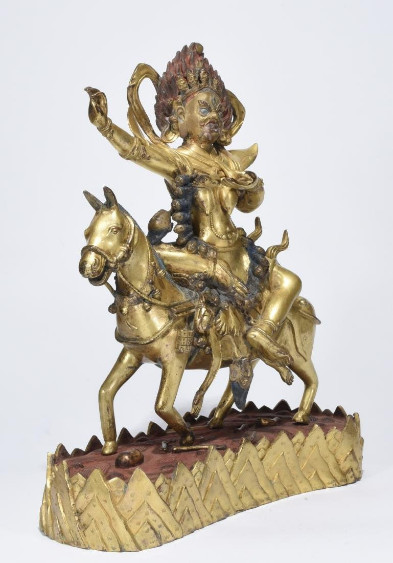 A Gilt-Bronze Phalden Lamo - 2