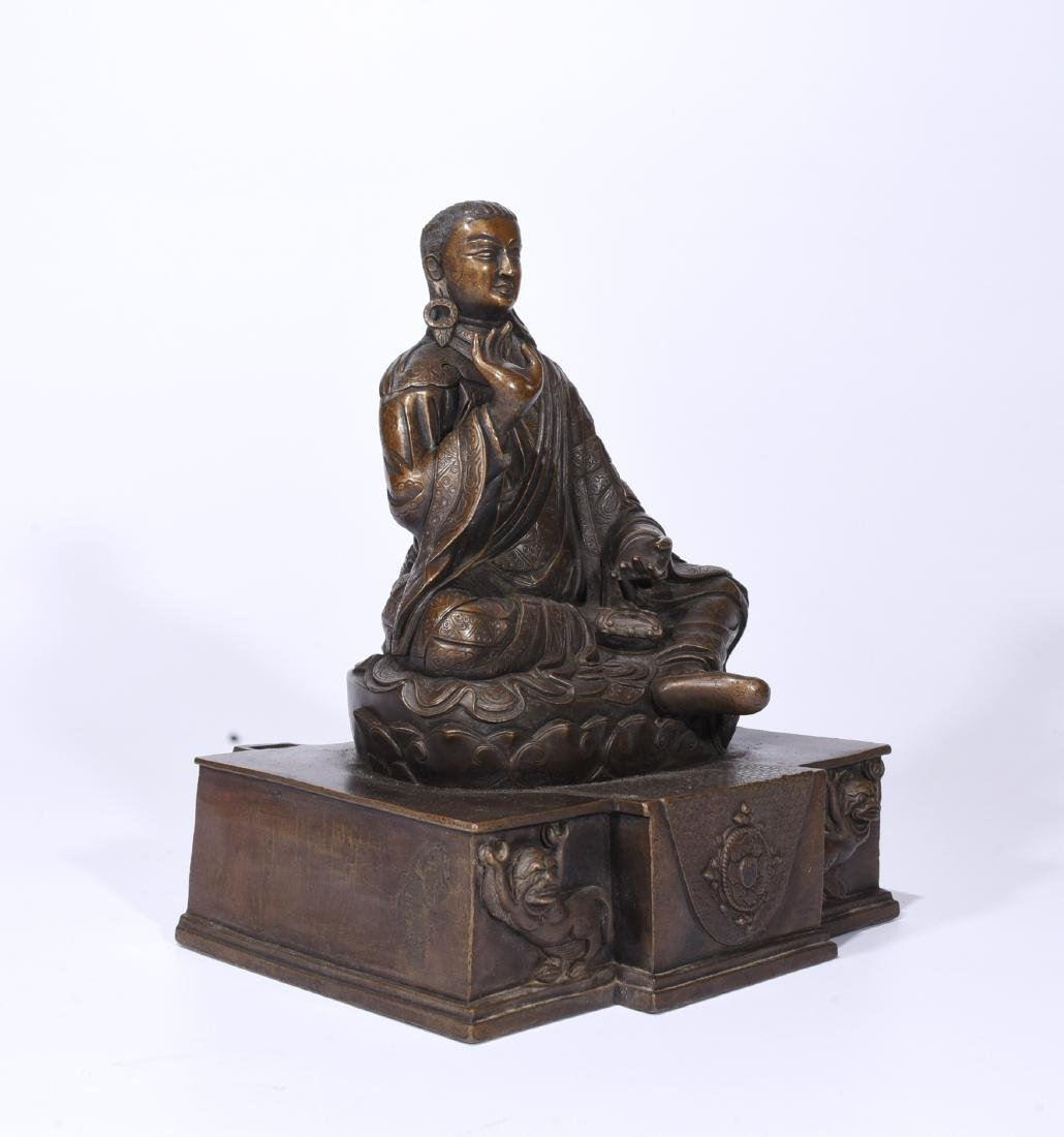 A Copper Figure Of Songtsen Gampo - 2