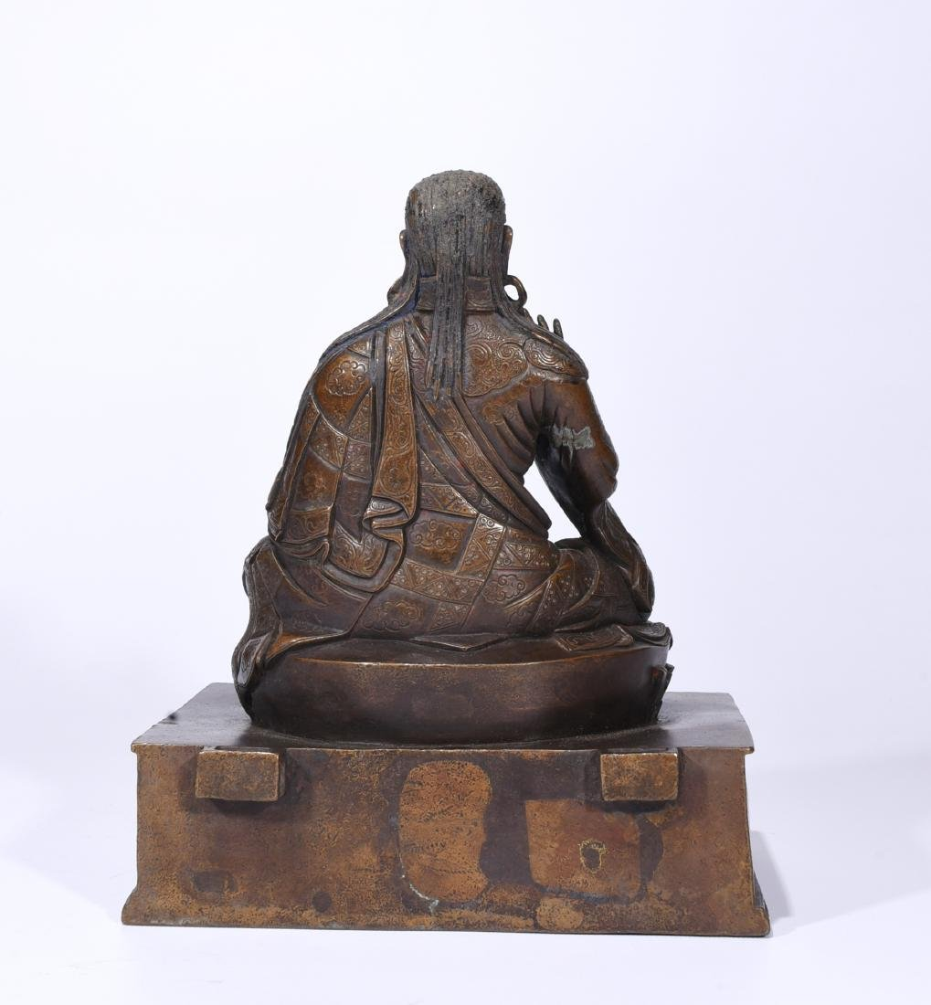 A Copper Figure Of Songtsen Gampo - 5