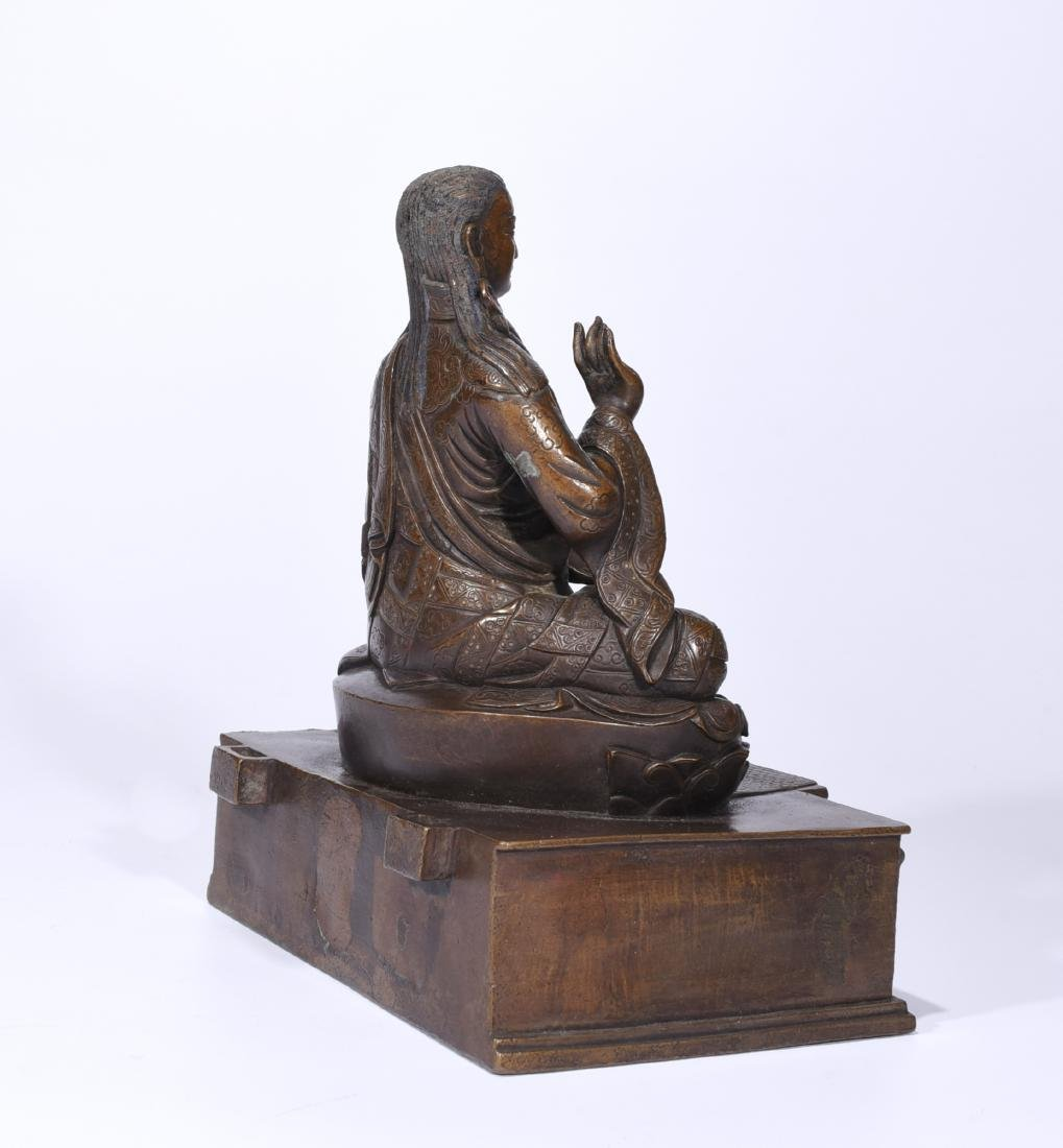A Copper Figure Of Songtsen Gampo - 6