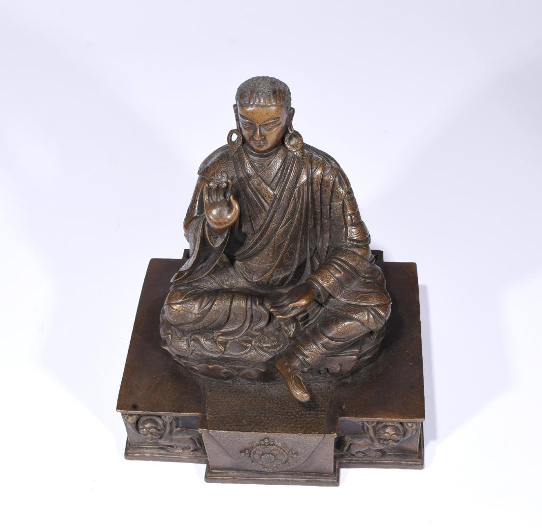 A Copper Figure Of Songtsen Gampo - 9