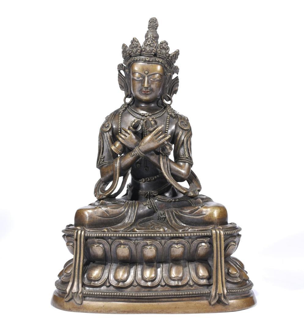 A Copper Figure Of Vajrasattva