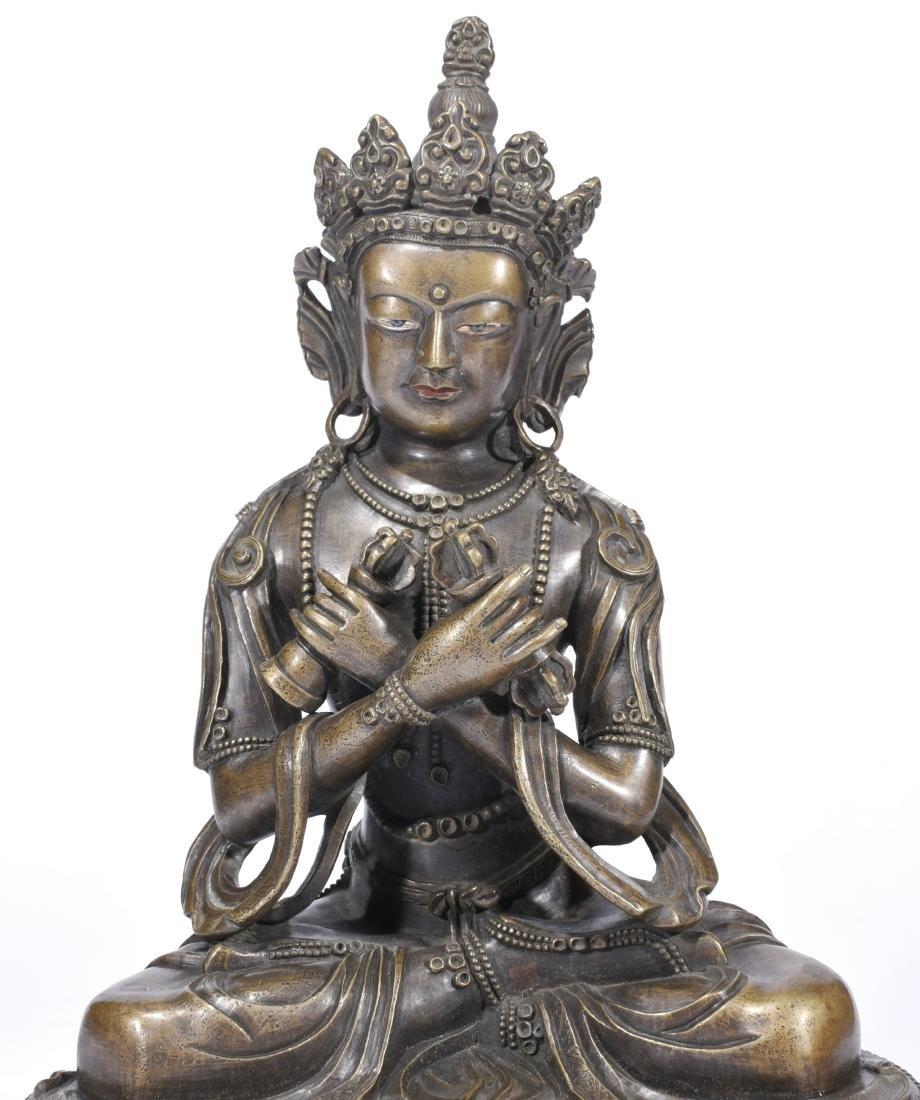 A Copper Figure Of Vajrasattva - 2