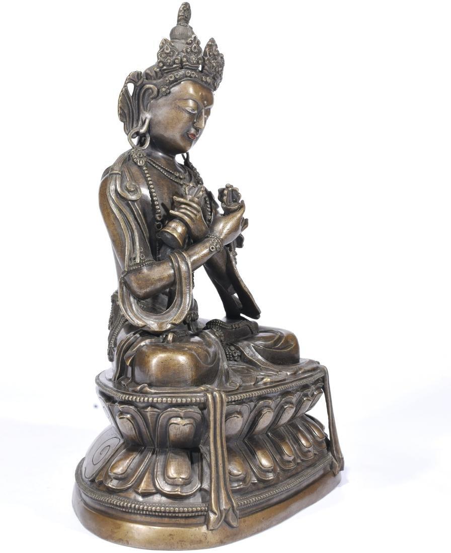 A Copper Figure Of Vajrasattva - 3