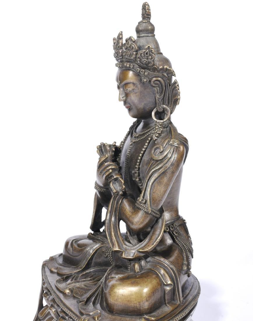 A Copper Figure Of Vajrasattva - 5