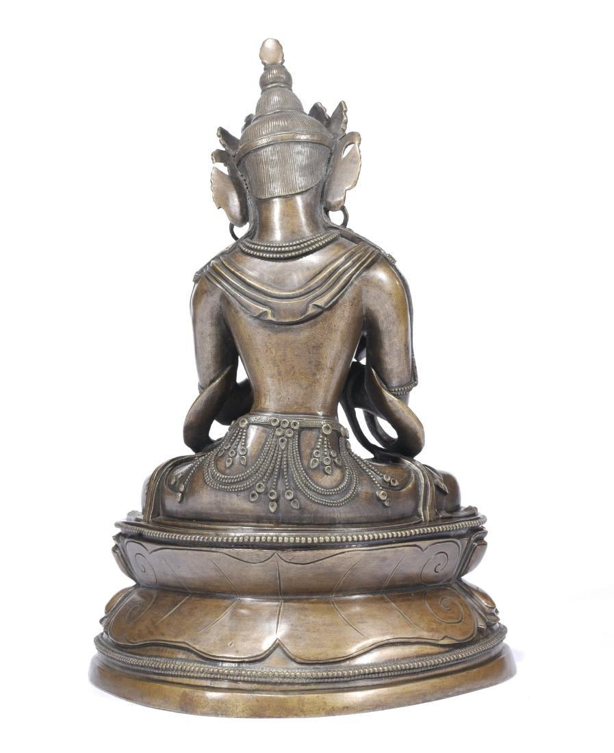 A Copper Figure Of Vajrasattva - 6