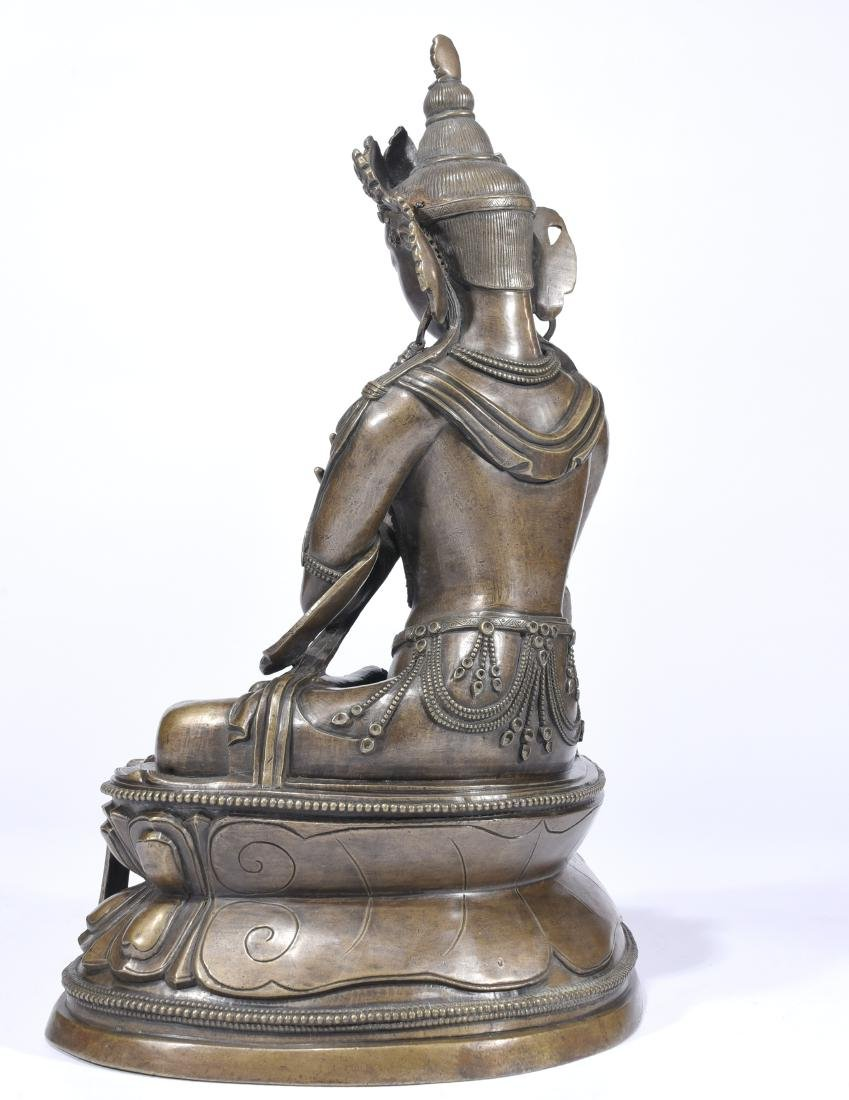 A Copper Figure Of Vajrasattva - 8