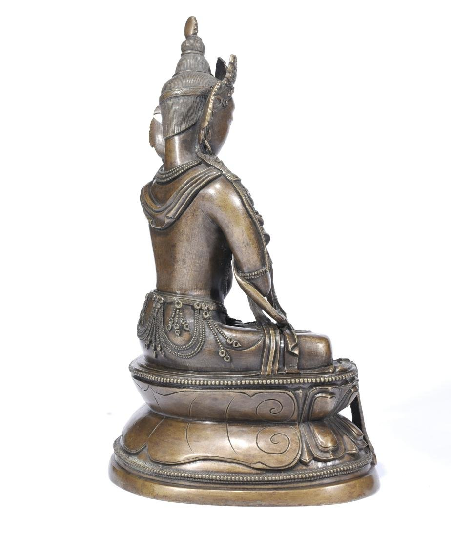 A Copper Figure Of Vajrasattva - 9