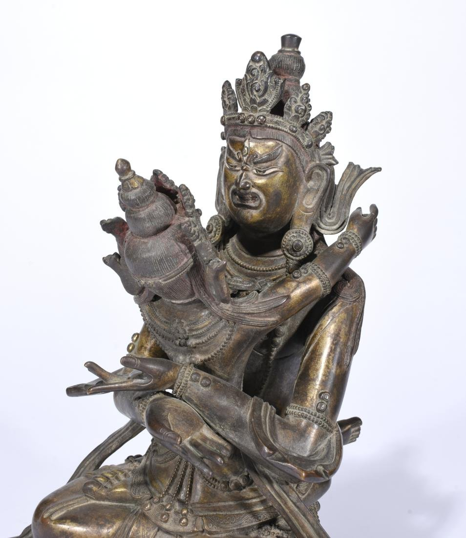 A Copper Figure of A Buddha With Consort - 6