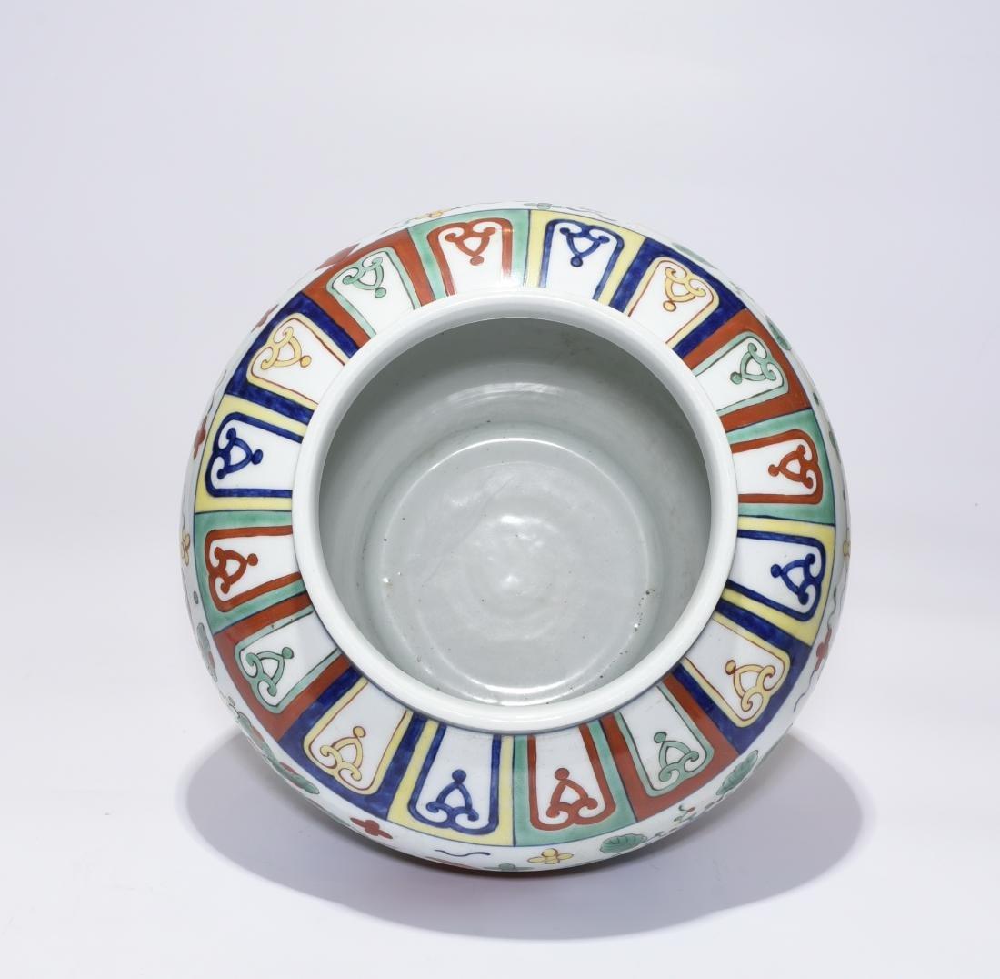 A Jiajing Marked Doucai 'Fish' Jar - 6