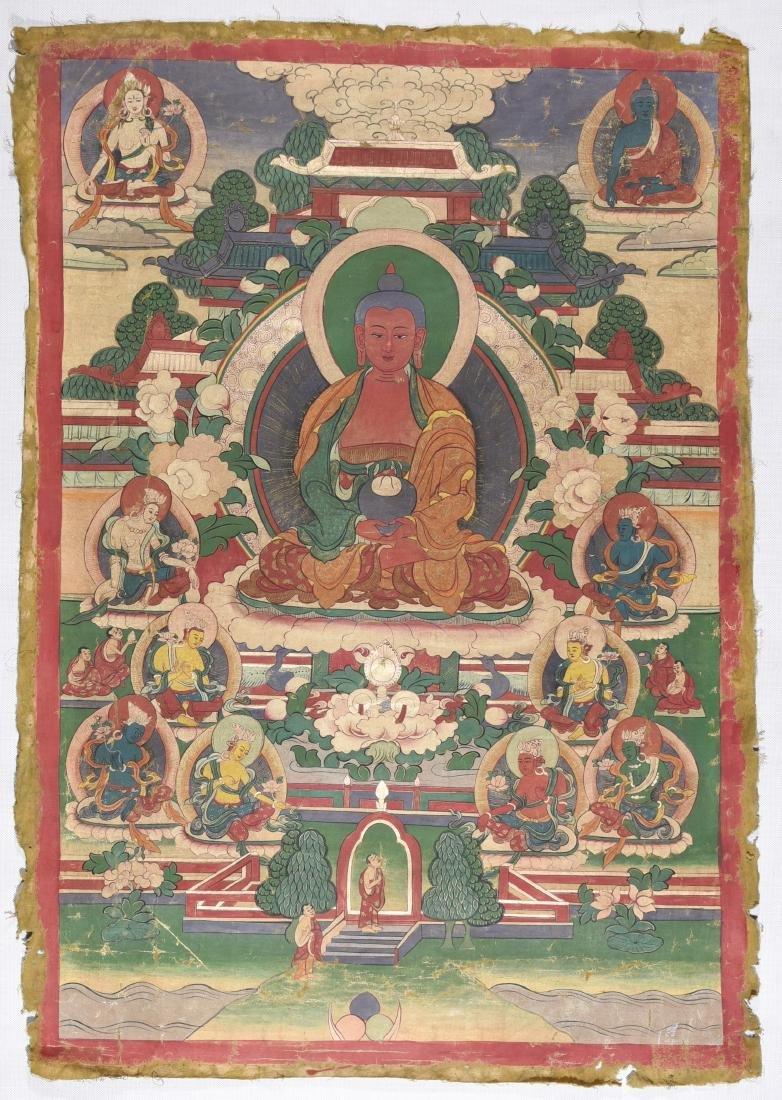 A Tangka Figure Of The Medicine Buddha
