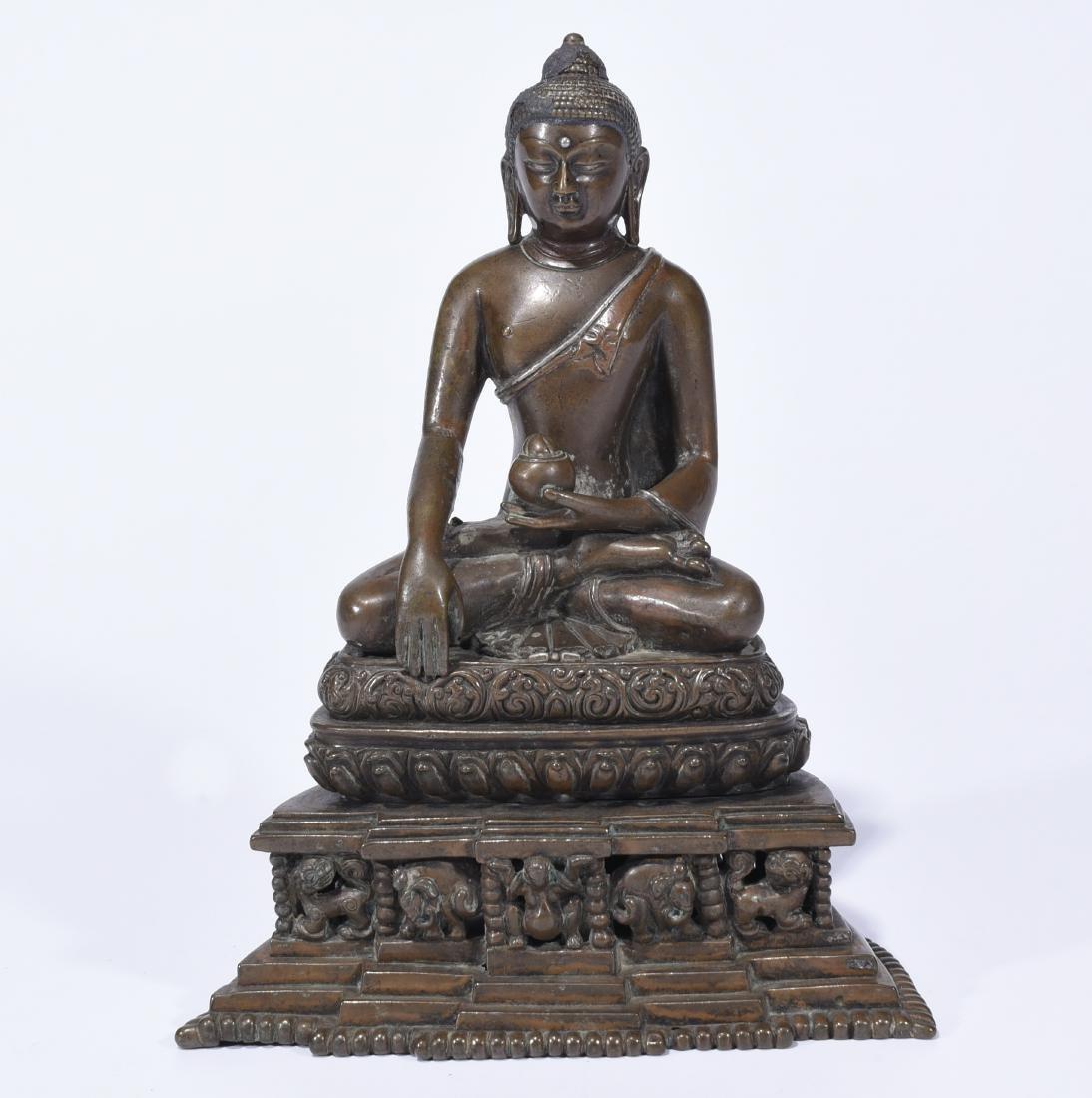 An Alloy Copper Buddha Shakyamuni