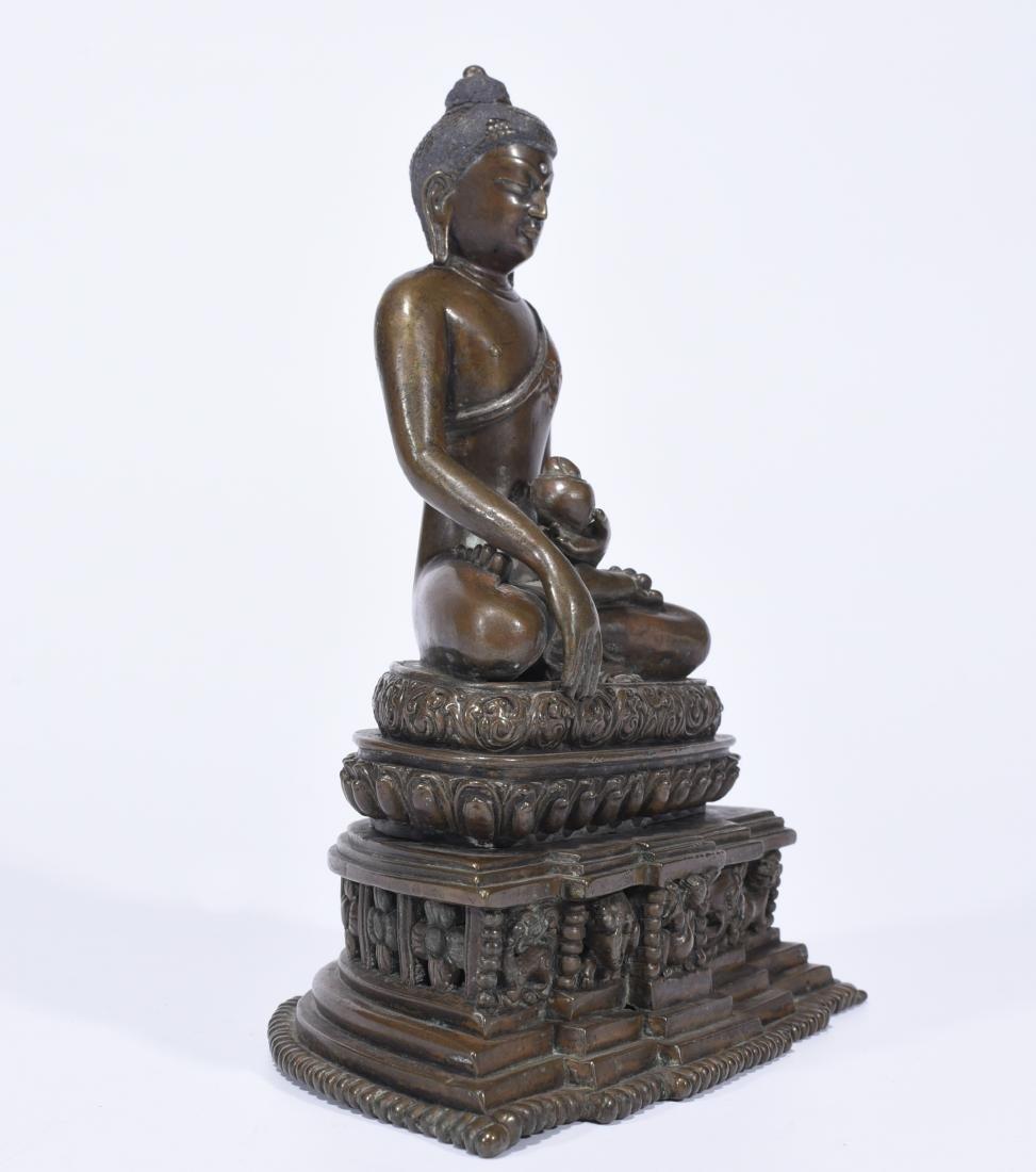 An Alloy Copper Buddha Shakyamuni - 2