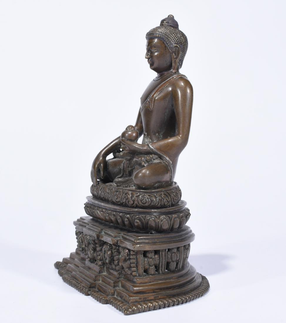 An Alloy Copper Buddha Shakyamuni - 3