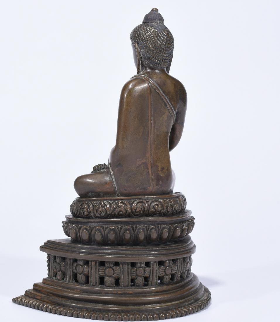 An Alloy Copper Buddha Shakyamuni - 4