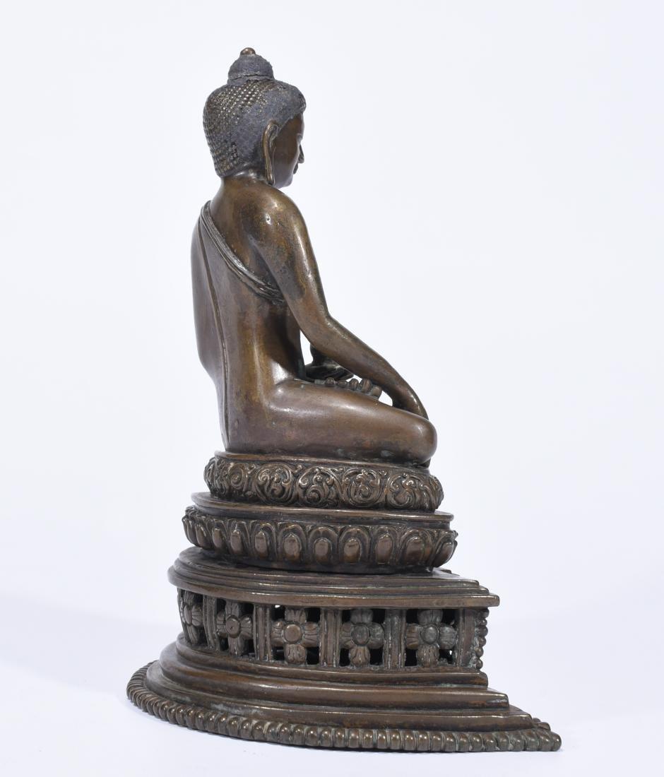 An Alloy Copper Buddha Shakyamuni - 5