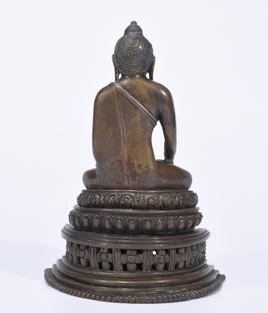 An Alloy Copper Buddha Shakyamuni - 6