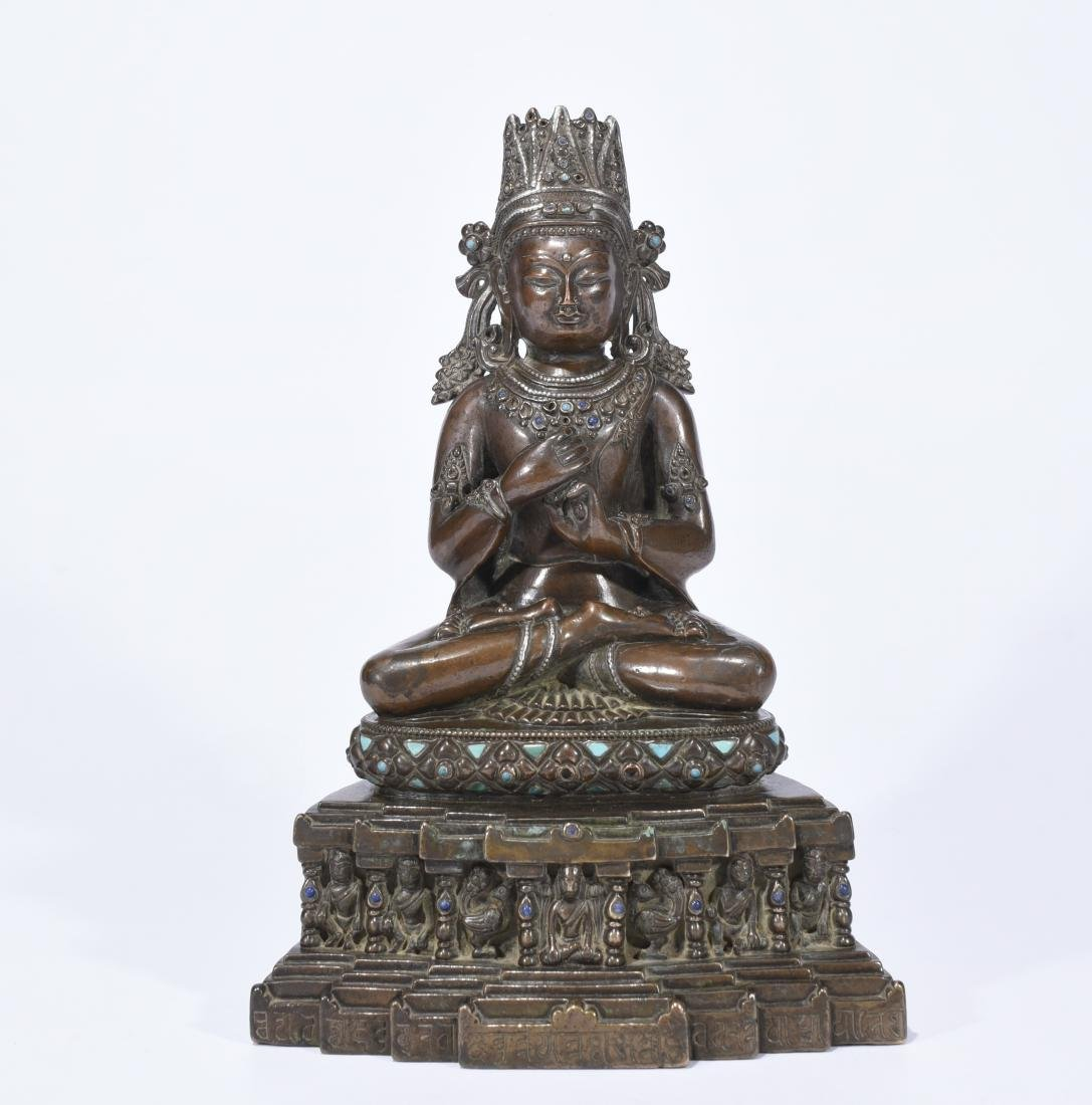 An Alloy Copper Figure Of Amitayus