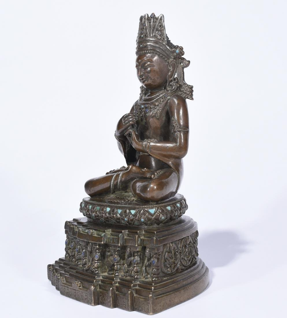 An Alloy Copper Figure Of Amitayus - 3