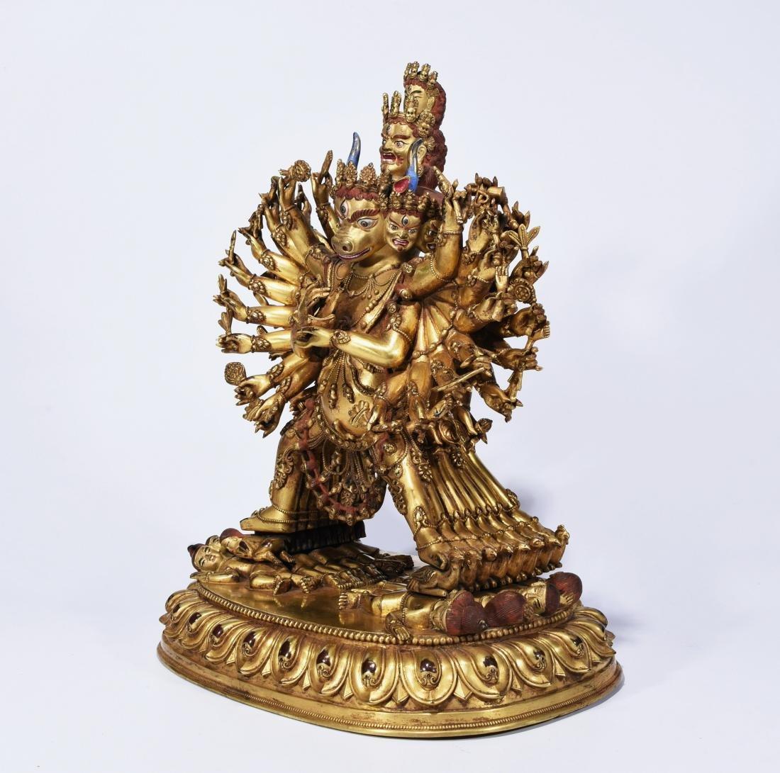 A Gilt-Bronze Figure Of Yamantaka - 3
