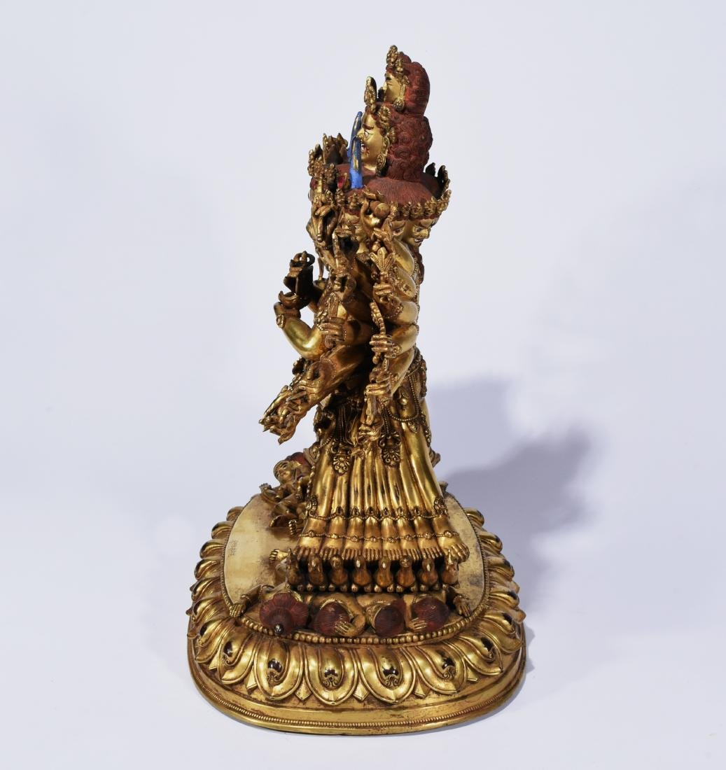 A Gilt-Bronze Figure Of Yamantaka - 4