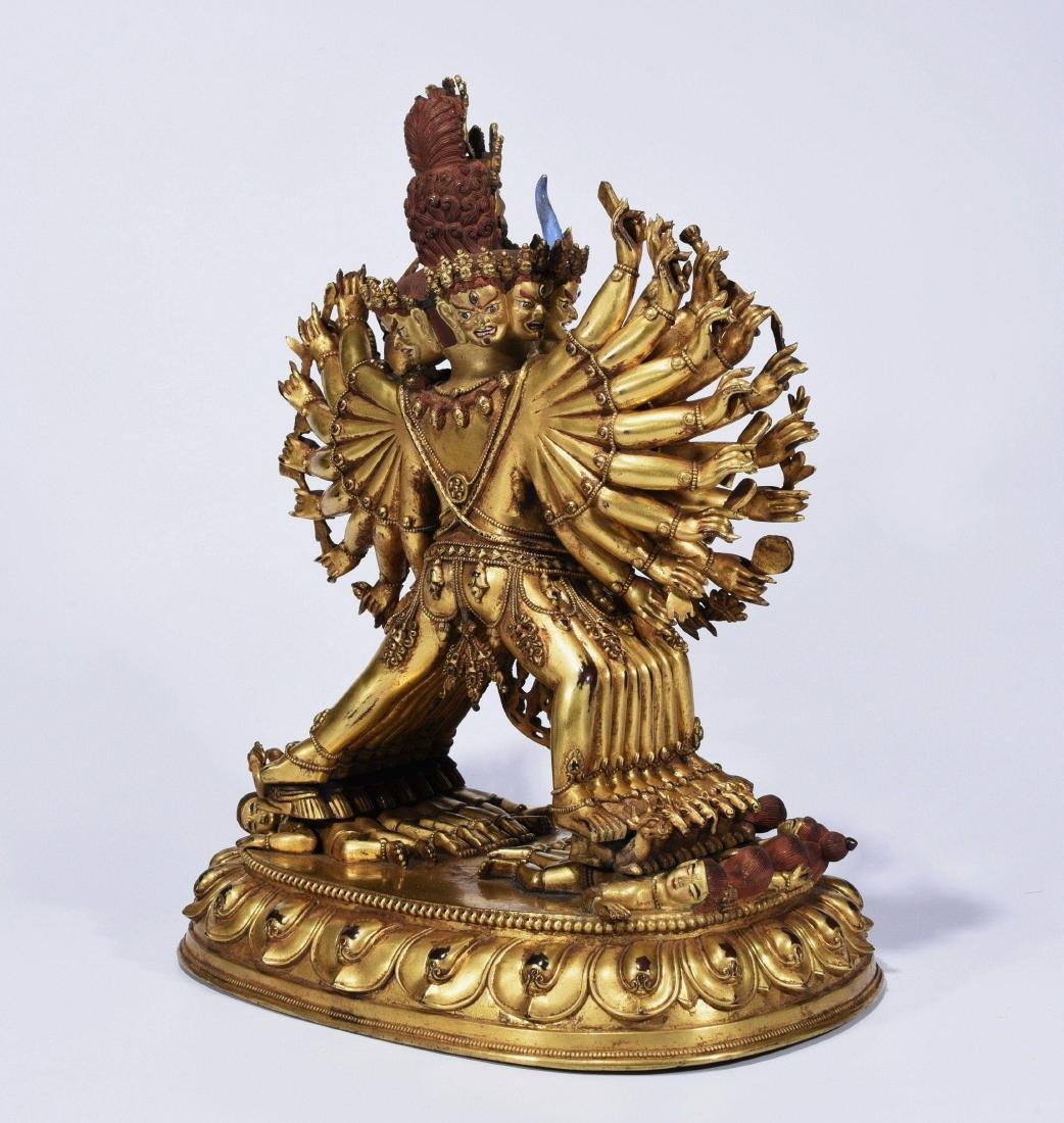 A Gilt-Bronze Figure Of Yamantaka - 6