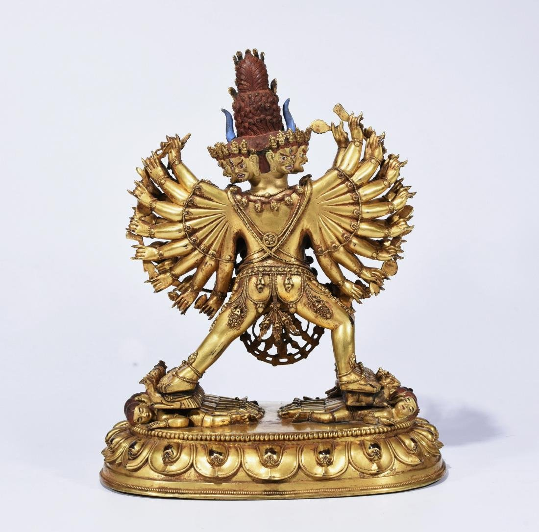 A Gilt-Bronze Figure Of Yamantaka - 7