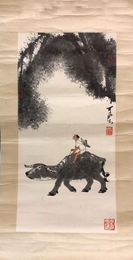 Li Keran 'Grazing'