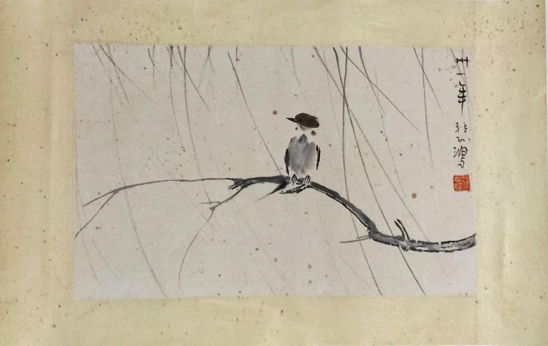 Xu Beihong 'Williow And Bird'