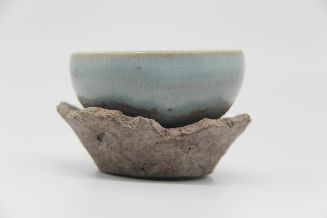 Song Jun-Type Bowl And Stand