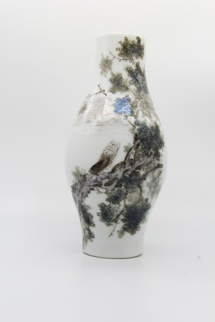 Marked Li Mingliang Olive-Shaped Vase - 4