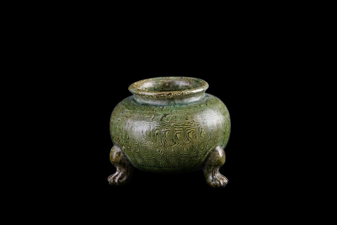 Ming Marbled Porcelain Tripod Censer