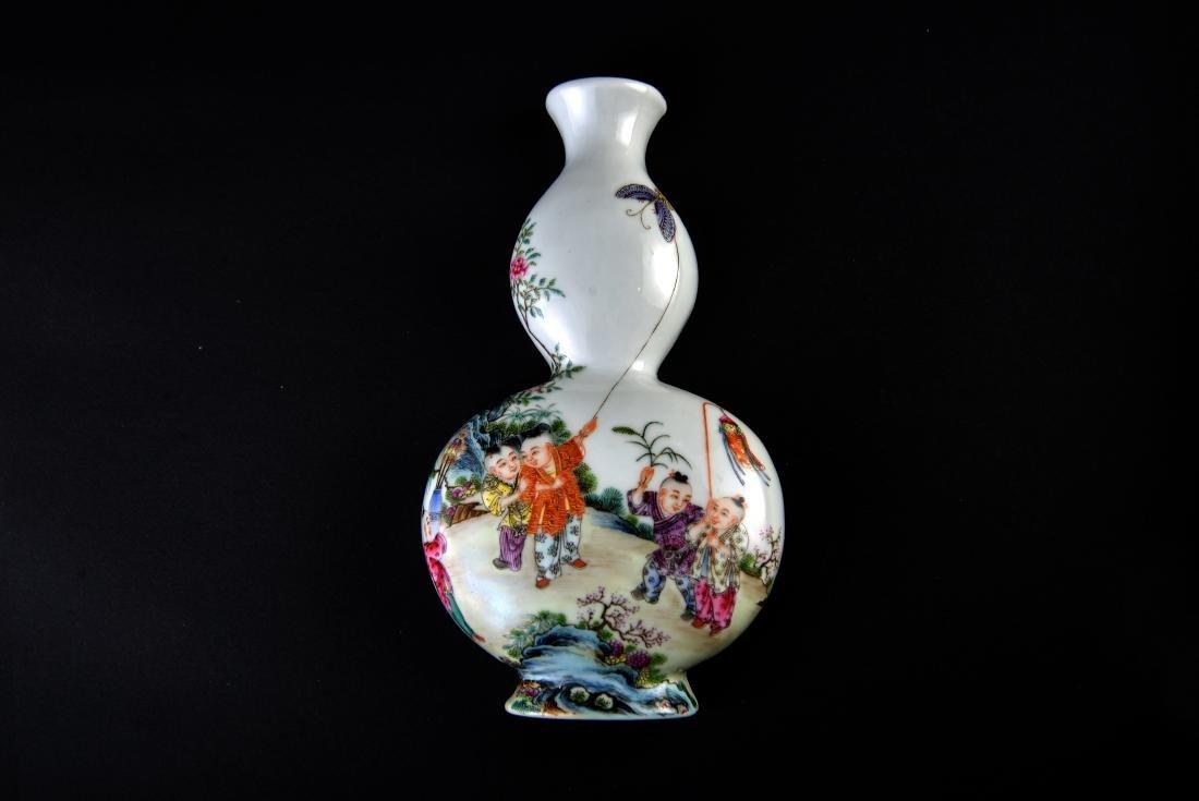 Qing Qianlong Marked Famille Rose Vase