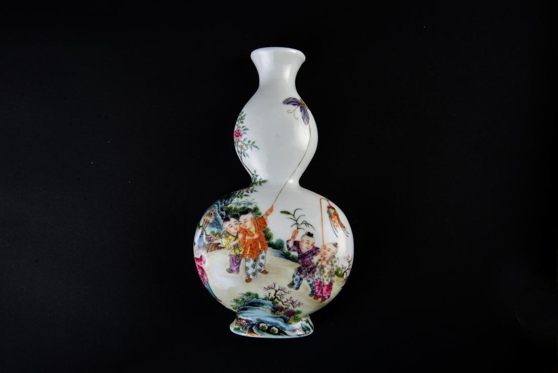 Qing Qianlong Marked Famille Rose Vase - 2