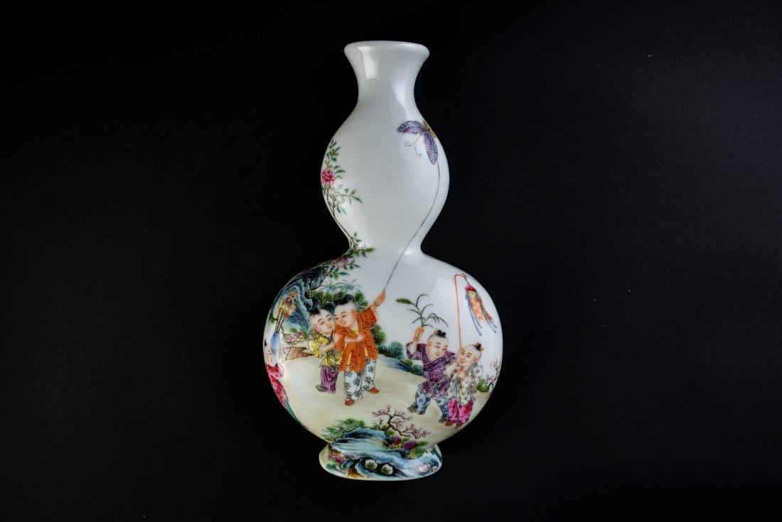 Qing Qianlong Marked Famille Rose Vase - 5