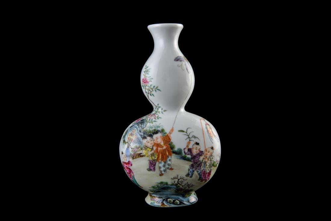 Qing Qianlong Marked Famille Rose Vase - 6