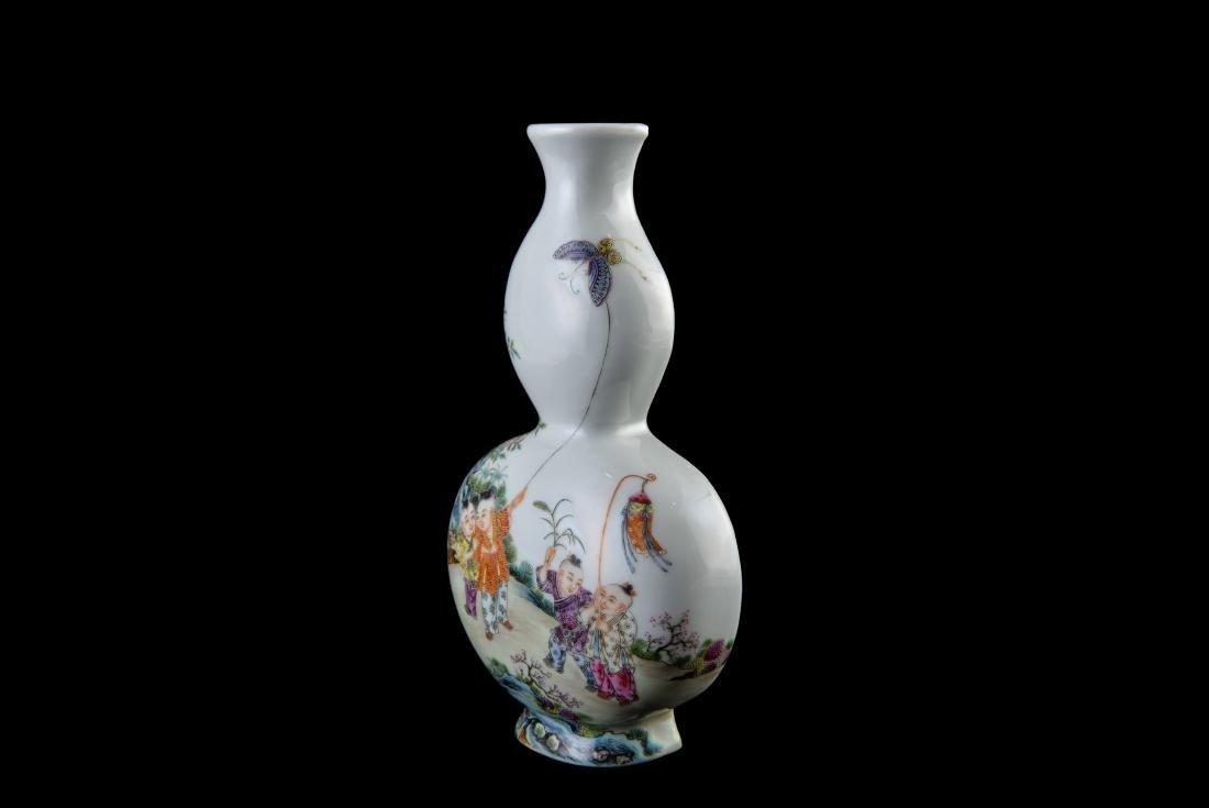 Qing Qianlong Marked Famille Rose Vase - 7