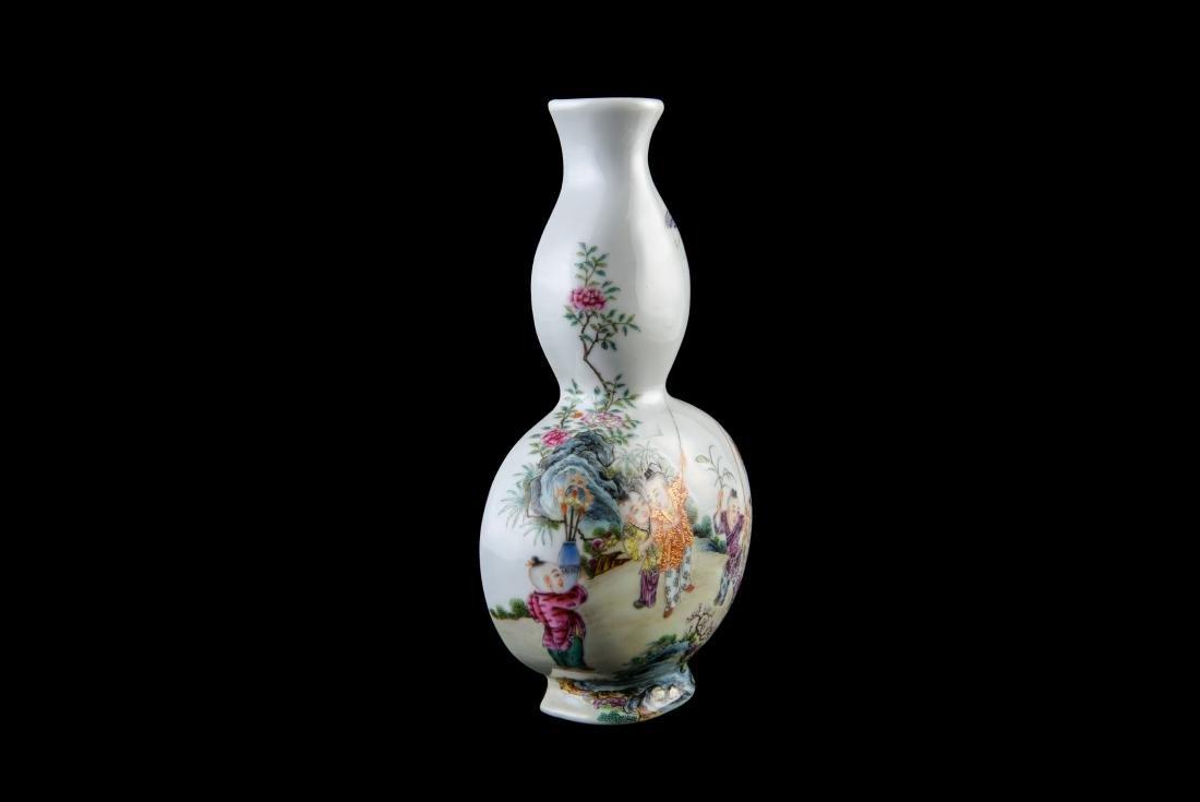 Qing Qianlong Marked Famille Rose Vase - 8