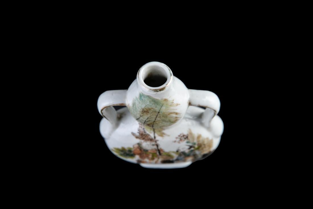 Republic Qianjiangcai 'Figure' Gourd-Shaped Vase - 3