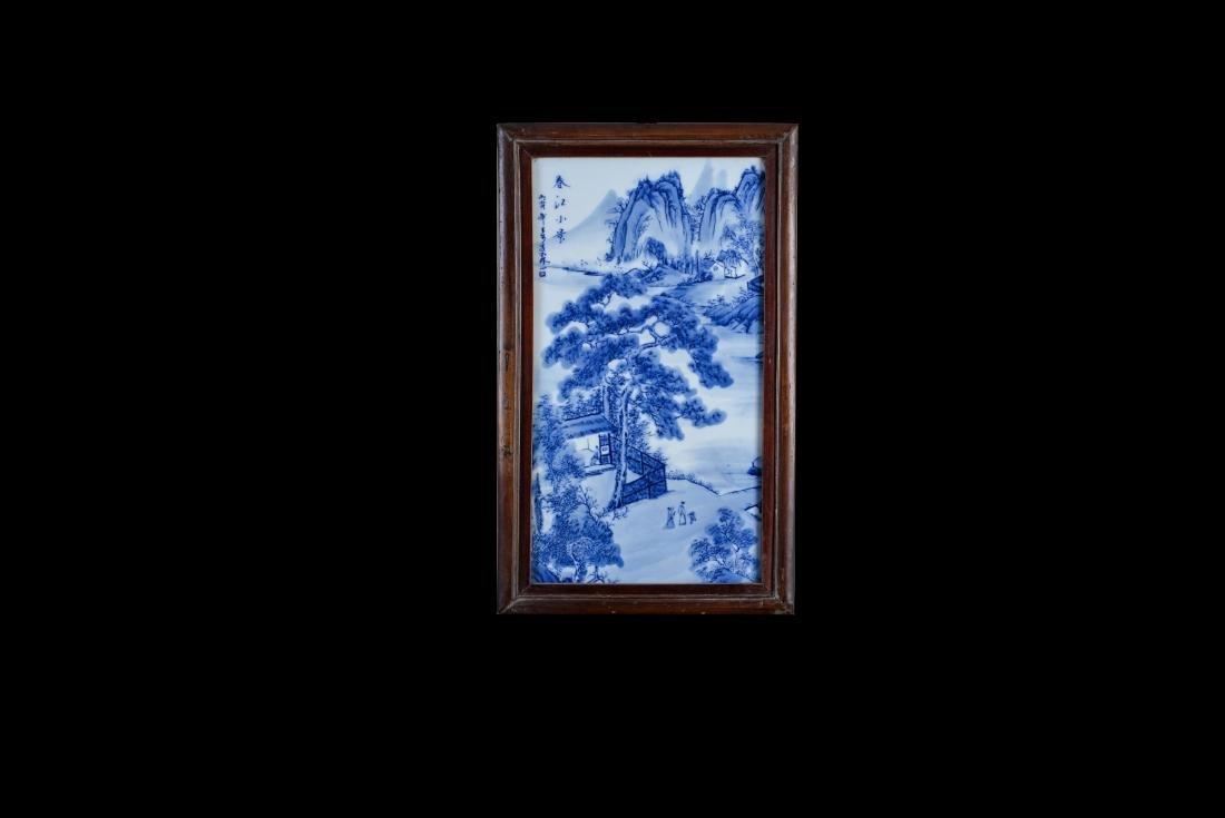 4 Republic Wang Bu Blue And White 'Landscape' Screens - 6