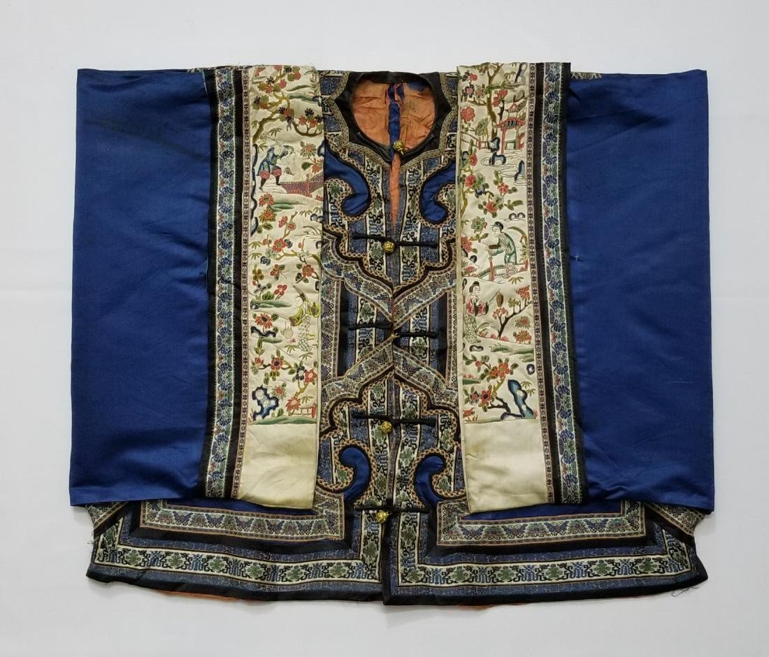 Antique Chinese Silk Woman's Robe - 2