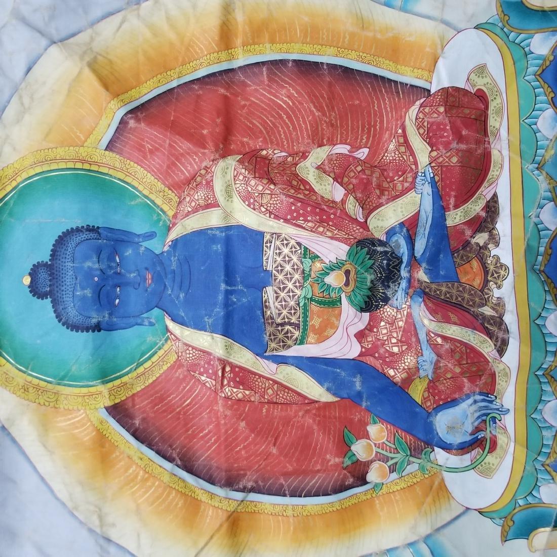 Antique Chinese Tibetan Thangka - 7