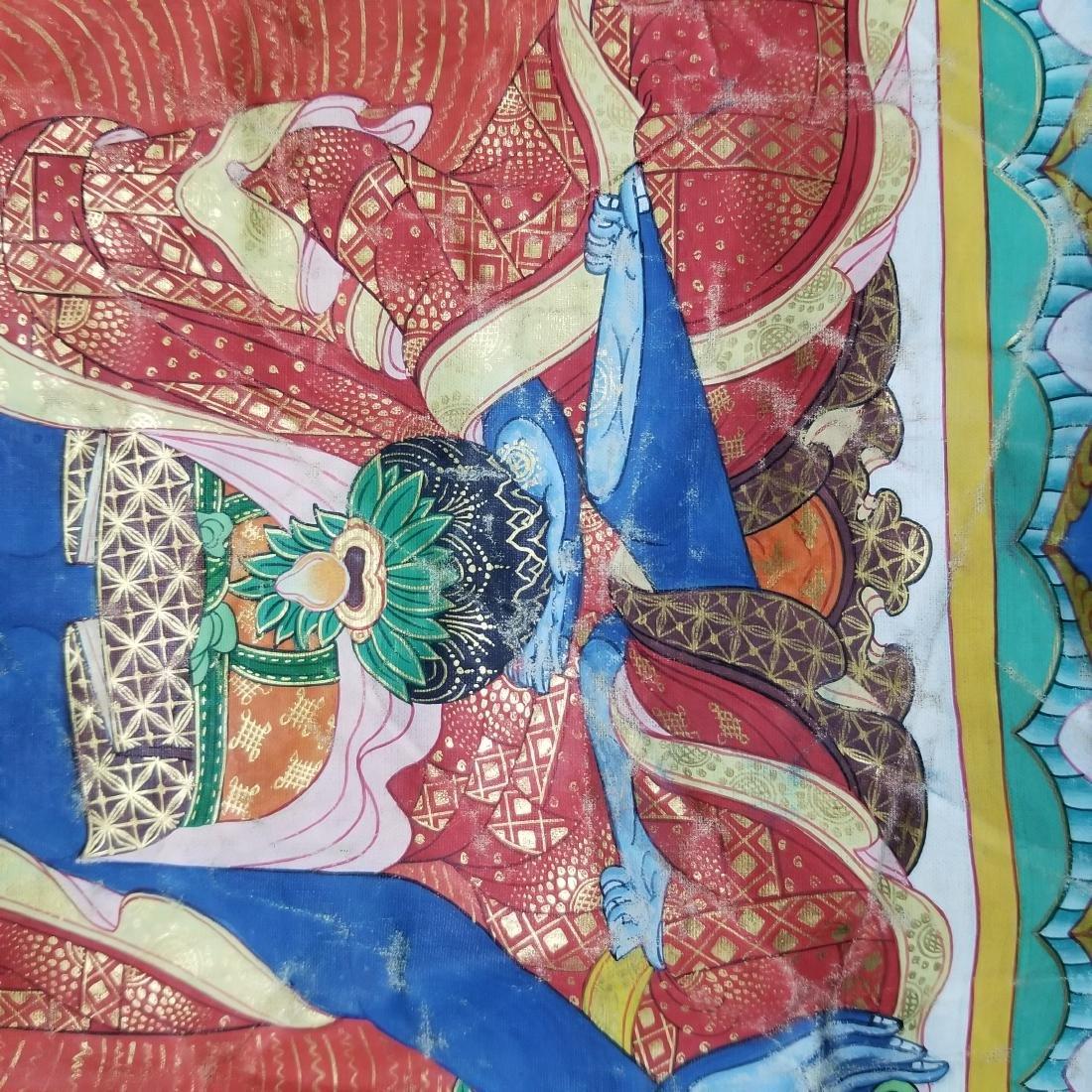 Antique Chinese Tibetan Thangka - 8