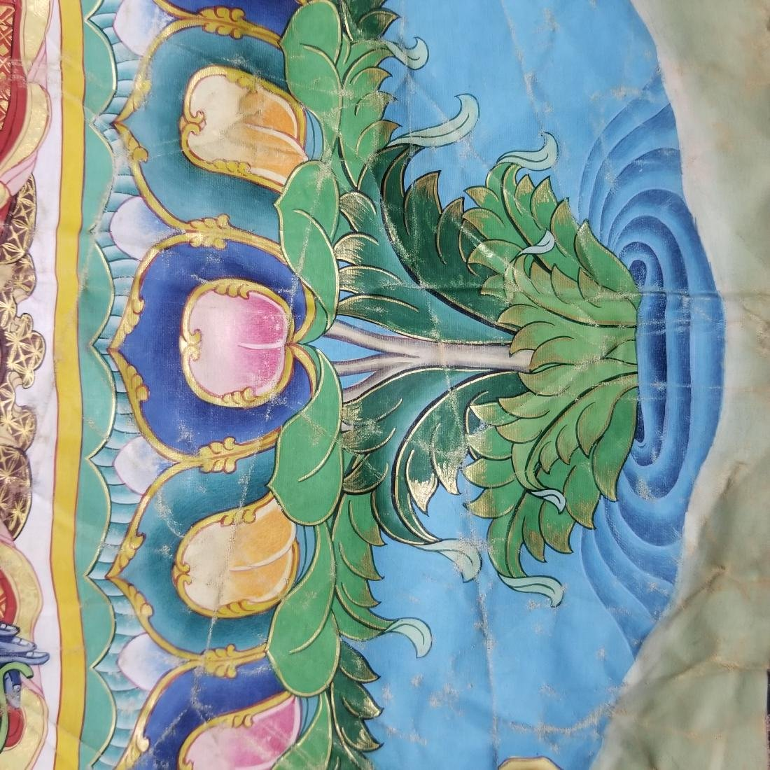 Antique Chinese Tibetan Thangka - 9