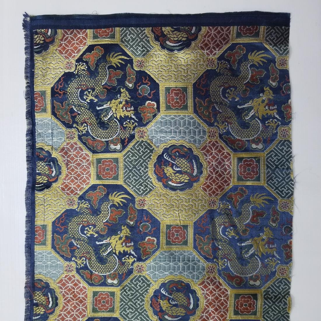 Chinese Silk Brocade Dragon Panel - 3