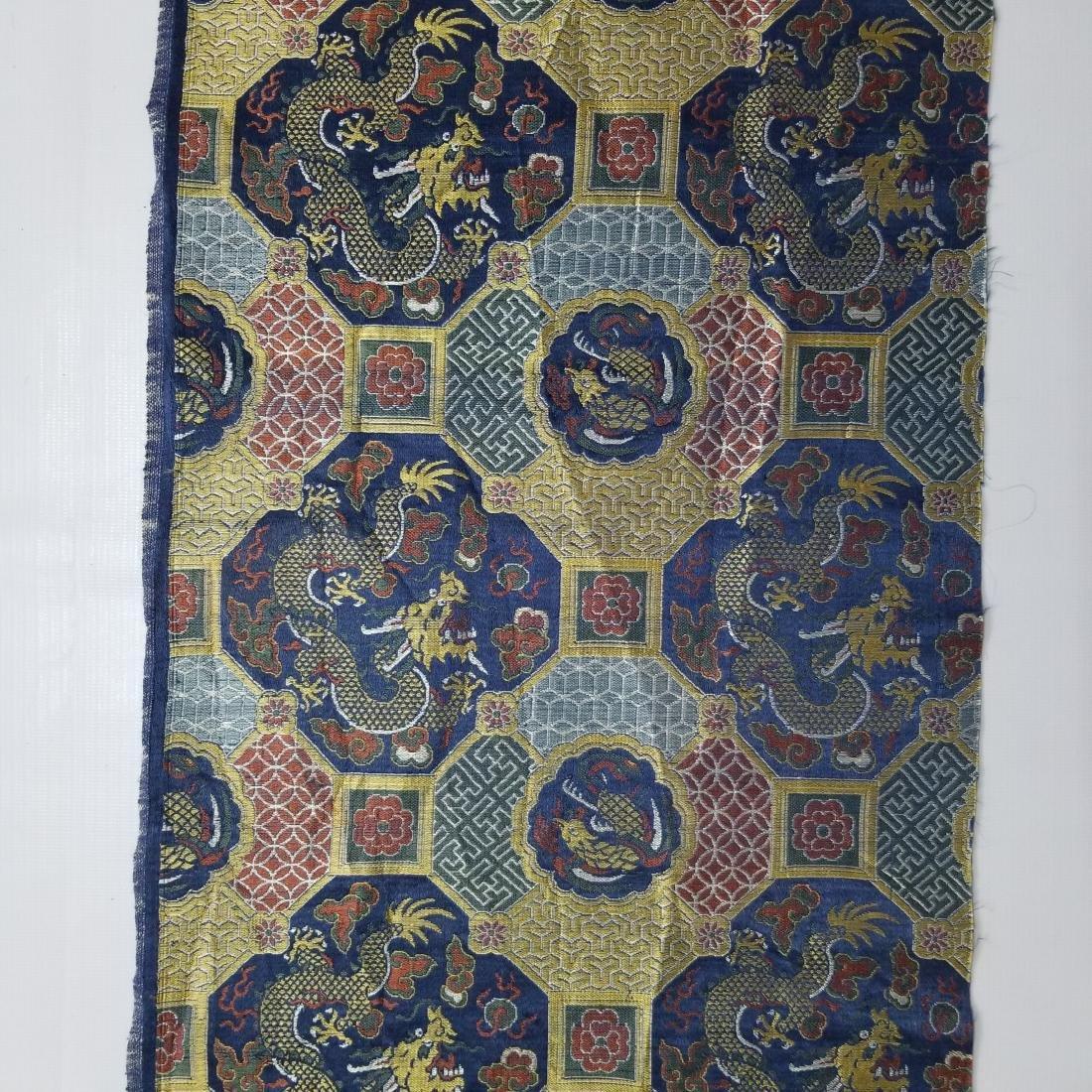 Chinese Silk Brocade Dragon Panel - 4